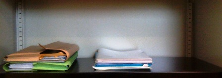 Nearly empty filing cabinet